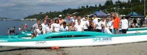 Our club on the beach at Alki in West Seattle - our signature race.