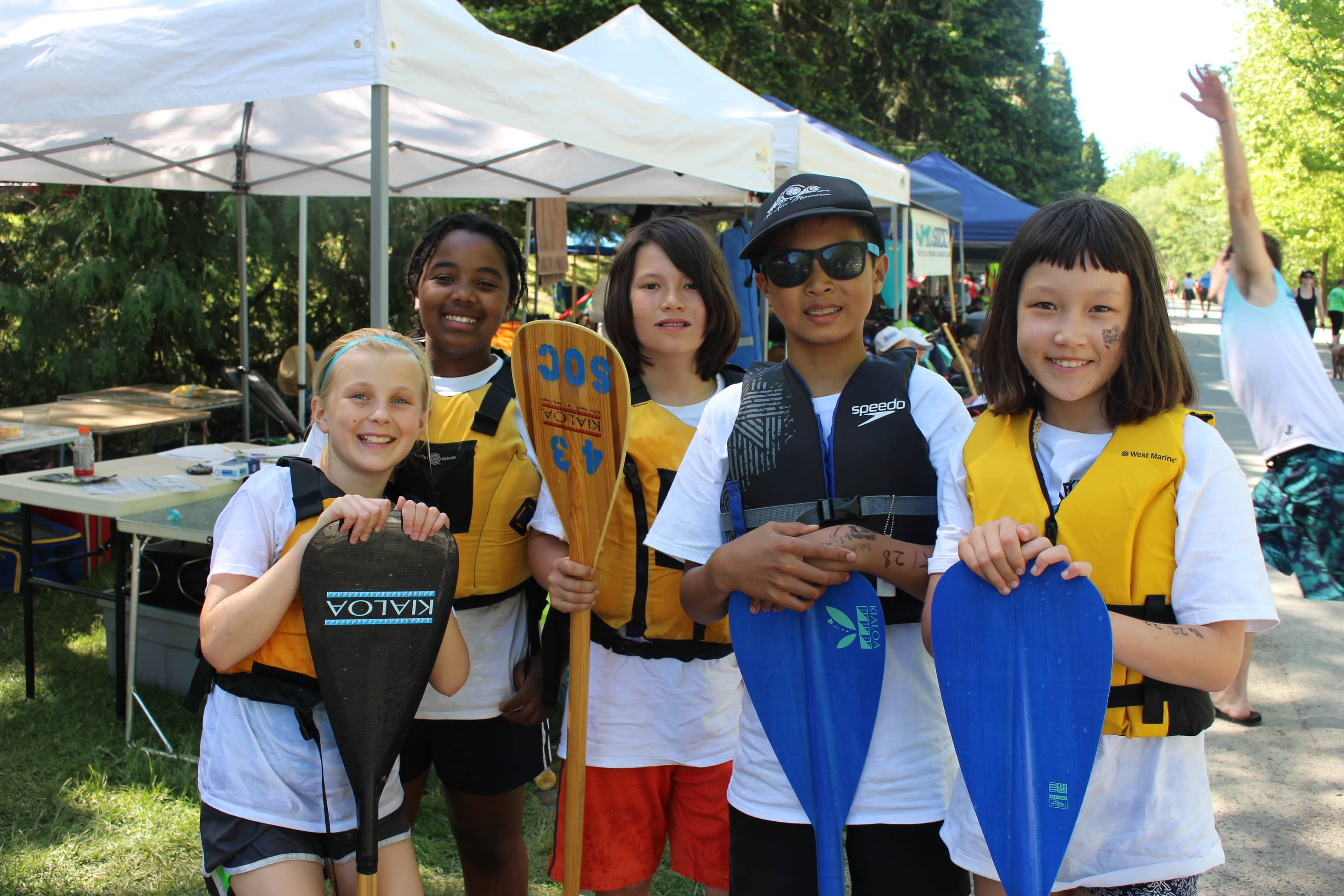 a few of our keiki (children) paddlers at green lake